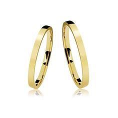 Alianças Casamento Ouro Polidas 2,5 mm 3 g VJ6219