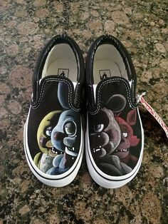 Custom Painted Shoes FIVE NIGHTS at FREDDYS