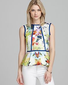 Parker - gorgeous floral print and piping Breaking it up with piping