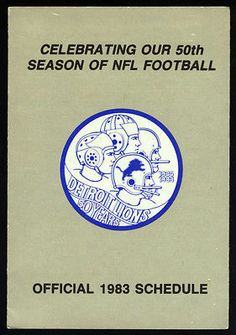 1983 Detroit Lions Oakland University Football Pocket Schedule Free Shipping | eBay
