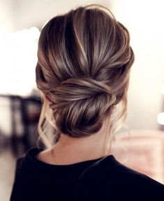 15 Stunning Low Bun Updo Wedding Hairstyles from Tonyastylist cla. - 15 Stunning Low Bun Updo Wedding Hairstyles from Tonyastylist classic updo wedding h - Wedding Hairstyles For Long Hair, Wedding Hair And Makeup, Up Hairstyles, Hairstyle Ideas, Style Hairstyle, Classic Hairstyles, Hair Updos For Medium Hair, Updo For Long Hair, Loose Updo
