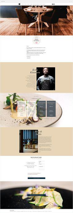 RESTAURANT ERH Paris par KEITA KITAMURA Web Design, Site Design, Design Ideas, Graphic Design, French Websites, Webdesign Inspiration, Web Development, Advertising, Restaurant