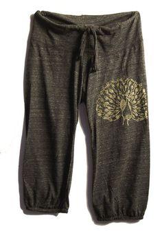 my pretty pretty Peacock Pants, Lounge Pants, Maternity Pants, S,M,L,XL. $26.00, via Etsy.