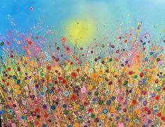 Cornflower sky 120cmx160cm ❤️ UK Flower Artist Yvonne Coomber  #Regram via @yvonnecoomber