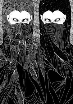 Anders Røkkum #bleaq #illustration #drawing #dark