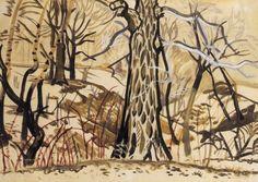 "Charles Burchfield, ""Tanglewood in Winter"""