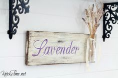 This DIY Lavender Sign is the perfect way to display some of your lavender cuttings from your garden, and would look charming in any cottage kitchen.