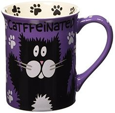 Enesco 4026111 Our Name Is Mud by Lorrie Veasey Catffeinated Mug, 4-1/2-Inch