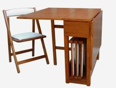 Folding dining table on wheels foldable chairs that fit - Mesa plegable con sillas dentro ikea ...