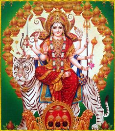 Receive Nine-Fold Blessings from Powerful Forms of Goddess Durga on Auspicious Ugadi. Maa Durga Photo, Maa Durga Image, Durga Kali, Saraswati Goddess, Mother Goddess, Shiva Shakti, Goddess Lakshmi, Navratri Puja, Cosmic Egg