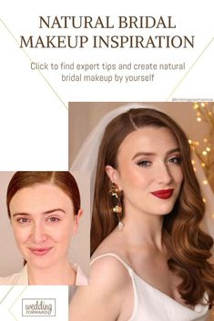 48 Ideas For Natural Bridal Makeup ♥ Natural bridal makeup is a good choice to make your look tender and romantic. Look our collection of natural makeup ideas and tips. #wedding #makeup #weddingforward #bride #weddingbeauty #NaturalBridalMakeup