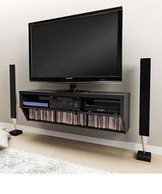 flat screen tv stands with shelves