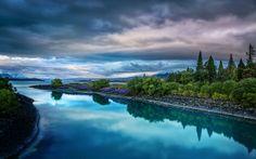 Evening on the blue Lake Tekapo by Stuck in Customs, via Flickr