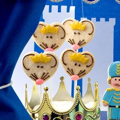 Mouse King cookies - or pops, if you're ambitious like that. I say, keep it simple. Wish I'd had these for our party last year.