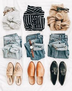 minimalist outfit ideas - New Hair Style Mode Outfits, Casual Outfits, Fashion Outfits, Womens Fashion, Fashion Trends, Dress Casual, Fashion Clothes, Fashion Flatlay, Hipster Outfits