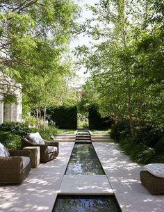 34 creative garden ideas and landscaping tips 13 Water features in the garden, Garden architecture, Modern Landscape Design, Modern Landscaping, Backyard Landscaping, Landscaping Ideas, Garden Pool, Water Garden, Pool Water, Green Garden, Big Garden
