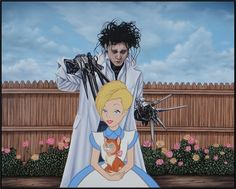 Edward Scissorhands Johnny Depp Walt Disney Cartoons Updated for the 21st Century. To see more art and information about Jose Rodolfo Loaiza Ontiveros click the image.