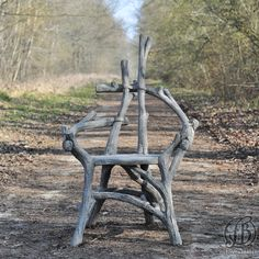 Faux Bois - Rocaille - Ciment - Fauteuil Deadwood - Fred Bross'Art - 1