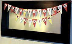 Curious George Printable Pennant Birthday Banner. $10.00, via Etsy.