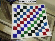 Multicoloured Chequered Platter by prismartglass on Etsy, Platter, Glass Art, Painting, Etsy, Jar Art, Painting Art, Paintings, Painted Canvas, Drawings