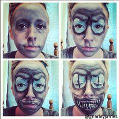 Snake Beetlejuice #facepaint #bodyart #makeupbymarley #beetlejuice