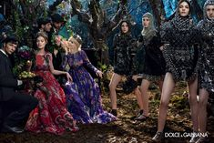 Dolce & Gabbana – Womenswear Advertising Campaign - Fall Winter 2014 2015 - I like the purple dress and the knights look cool