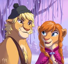 """The Lion King"" meets ""Frozen"" (Kristoff and Anna)"
