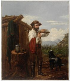 Goldminer, 1861, oil painting by James Anderson. To find more detailed information about this photographic collection visit: http://acms.sl.nsw.gov.au/item/itemDetailPaged.aspx?itemID=441673. From the collections of the Mitchell Library, State Library of New South Wales www.sl.nsw.gov.au...