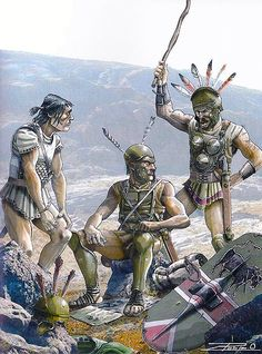 Samnite Auxiliaries in Spain, 208 - 206 BCE (and about to feel the wrath of a superior for taking an unauthorized coffee break).