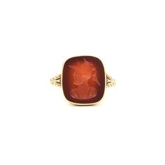 A Victorian Carnelian Signet Ring  #signet #signetring #carnelian #antiquejewelry #vintagejewelry #soldier #themoonstoned