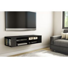Complete your bedroom decor with this beautiful entertainment center. Featuring straight lines and neutral finish that go well with any type of decor, this media console is sure to please.