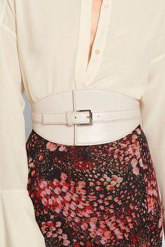 Alexander McQueen - Leather Waist Belt - Cream - 70