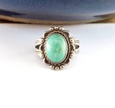 Old Sterling Silver Turquoise Ring #DiscountJewelry #DontPayRetail #Handmade #SouthwestJewelry #YeiSpirit #Sterlingjewelry   #NavajoSterling  #AddictedToShopping #AddictedToOnlineShopping#EstateJewelry #NavajoJewelry #UniqueJewelry #SilverJewelry #instadaily #sterlingsilverjewelry #Silver #vintagestyle #5thavenue #Classicstyle #Classicnevergoesoutofstyle #highfashion #Newyorkstyle #fashionista #ebay #celebritystylering #Jewelry #instajewelry #jewelryforsale #musthave #style #dressedup