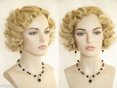 Stunning-Finger-Wavy-Style-Short-Skin-Top-Costume-Wigs-1920-039-s-flapper-look