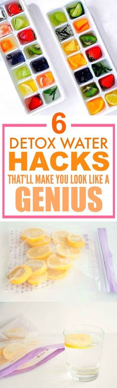 These 6 water detox hacks are THE BEST! I'm so happy I found this AWESOME post! I've tried a couple of these and I've definitely lost weight... ALREADY! I can't believe how easy these are! SO pinning for later!
