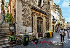Taormina east coast of Sicily. Explore your world with HopRocket Sicily Tourism, Taormina Sicily, Costa, Italy Holidays, East Coast, Family Travel, The Neighbourhood, Stairs, Europe