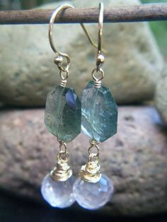 Natural Gemstones Amethyst Aquamarine Agate Bread Button Silver Stud Earrings