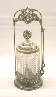 Ahhh ... the elegance of the Victorian days.  Antique Pickle Castor.  Beats that jar of pickles in the `fridge any day.