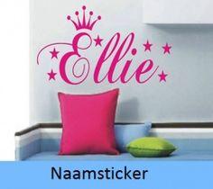 ... naam + kroon zelf ontwerpen leuk voor in de kinderkamer of babykamer