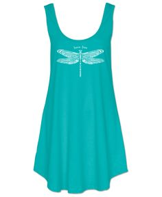 Born Free Dragonfly Organic Cotton Mini Dress: Soul Flower Clothing