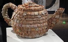 Teabag Teapot, GALEN ODELL-SMEDLEY '11 Used teabags, chicken wire