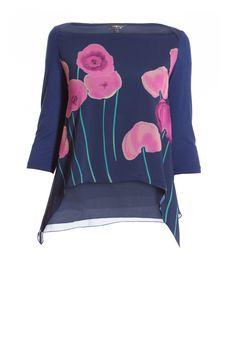Camomilla Italia - T-shirt ampia con maxi fiori Smilli