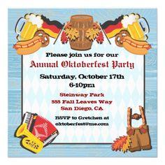 Oktoberfest Free Invite Free Printables Pinterest