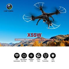 Wifi FPV Real Time With App Camera Drone (Black) -$123.379