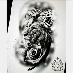 Lion Tattoo Design, Tattoo Designs, Chest Tattoo Lettering, Cool Tattoos, Tatoos, Ozzy Tattoo, Lion Art, Black And Grey Tattoos, Tattoo Drawings