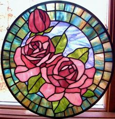 Tea roses - Michelle Carlson - Gallery - Stained Glass Town Square