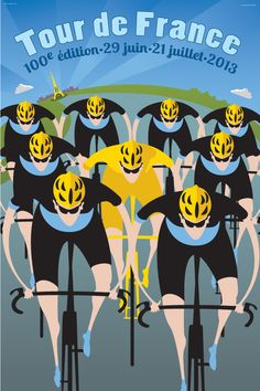 TdF 100th Edition Poster Set artwork as seen in Velo magazine.