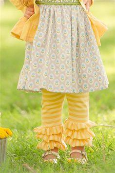 Triple Ruffle Legging Yellow