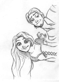 IMG – Immagini per ogni occasione Easy Disney Drawings, Disney Character Drawings, Easy Drawings, Art Disney, Disney Kunst, Disney Concept Art, Cartoon Drawings Of Animals, Animal Sketches, Rapunzel Drawing