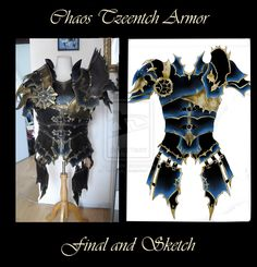 Commission : Chaos Tzeentch Armor (sketch) by Deakath.deviantart.com on @DeviantArt